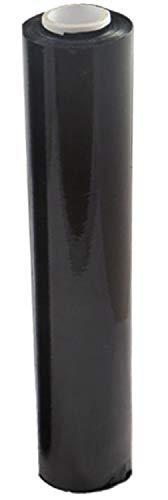 1grand Rouleau de Noir Palette stretch Wrap–Taille 400mm de large x 200metres chaque–Standard Core 17Micron Sécurité film plastique en polyéthylène opaque