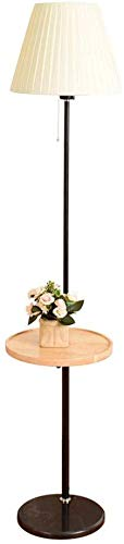 MY1MEY Standleuchte Home mall- Retro Stehlampe Stehlampe mit Holzschale und Marmorsockel für Wohnzimmer Schlafzimmer Höhenverstellbar 110-170cm (Color : Color#2)