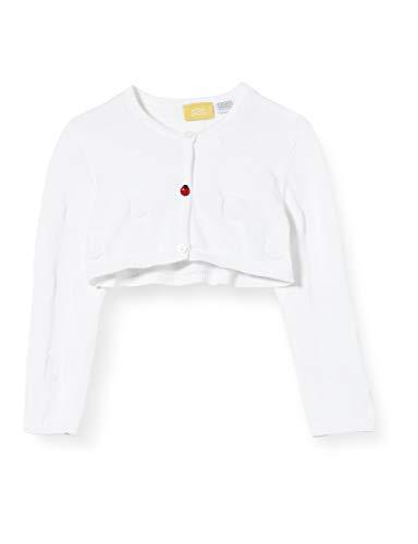 Chicco Baby-Mädchen Cardigan Bimba Strickjacke, Weiß (Bianco 033), 80 (Herstellergröße: 080)