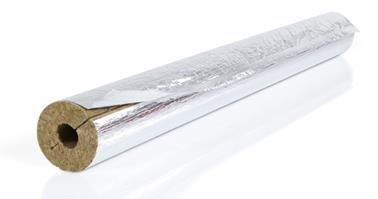 Isolierschale FLEX WOOL 1000mm 28/22mm m.gitternetzverst. Aluminium-Folie