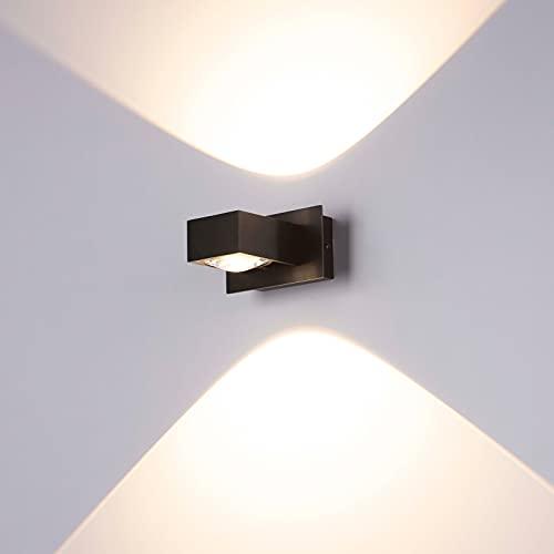 LED Lampada da Parete Moderno Alluminio Applique Camera da Letto 11W 3000K Bianco Caldo Up Down Applique da Parete Interno per Bagno Lampada Soggiorno Camera da Letto Scale Corridoio Luce Notturna