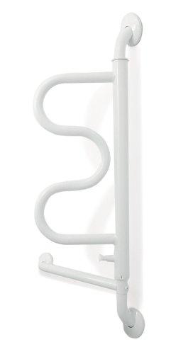Stander The Curve Grab Bar - Elderly Rotating Wall Mounted Ladder Assist Handle + Bathroom Grab Bar Toilet Aid