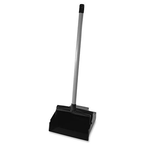 Impact 2600 LobbyMaster Plastic Lobby Dust Pan with PVC Handle, 37' Height x 12' Width x 11' Depth, Black (Case of 6)