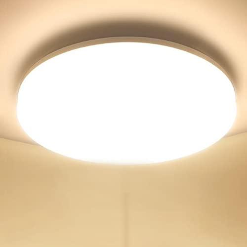 Plafoniera LED Soffitto 48W Lampada da Soffitto LED Ketom Bianco Caldo 3000K Ultra Magro Led Plafoniera Rotondo 4320LM IP44 Plafoniere da Soffitto Moderne per Corridoio, Bagno, Camera da letto, Ø30CM