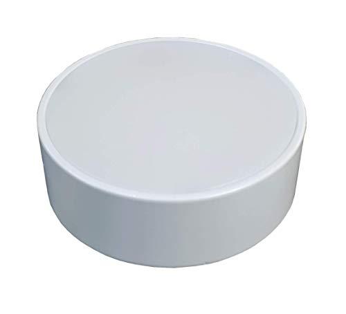 LED ATOMANT, S.L. Plafon LED Frameless superficie, marco extrafino, doble potencia. Blanco frio (6500K). (Redondo, 120x120mm (16w))