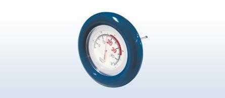 Schwimmthermometer, Thermometer rund, Teichthermometer
