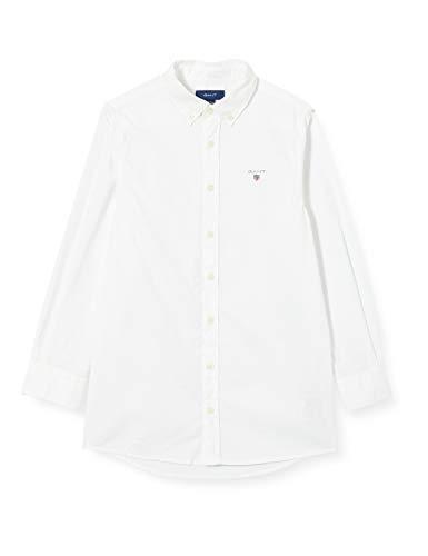 GANT Jungen D1. The ORIGINAL Twill Shirt Hemd, White, 176
