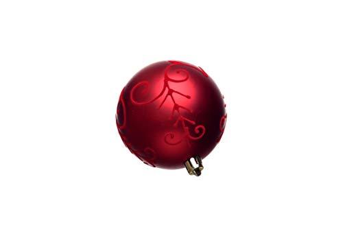 Heitmann Deco Christbaumkugeln - Schmuck - 16 TLG. Behang-Set - Anhänger - Weihnachtskugeln - rot - Durchmesser: ca. 8 cm