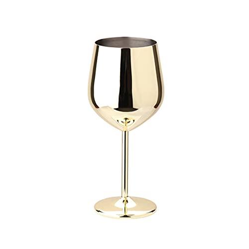 Copas de vino de boda Gafas de champán grande de champán de acero inoxidable Taza de vino tinto Copa de rapidez para la herramienta de cocina de barware (Color : Gold)