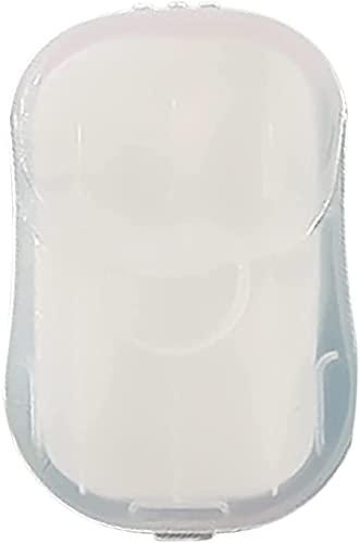 KCRPM Piccoli saponi di Carta da Viaggio, saponi per la Pulizia USA e Getta con Pellicola Tascabile (Jasmine 1box)