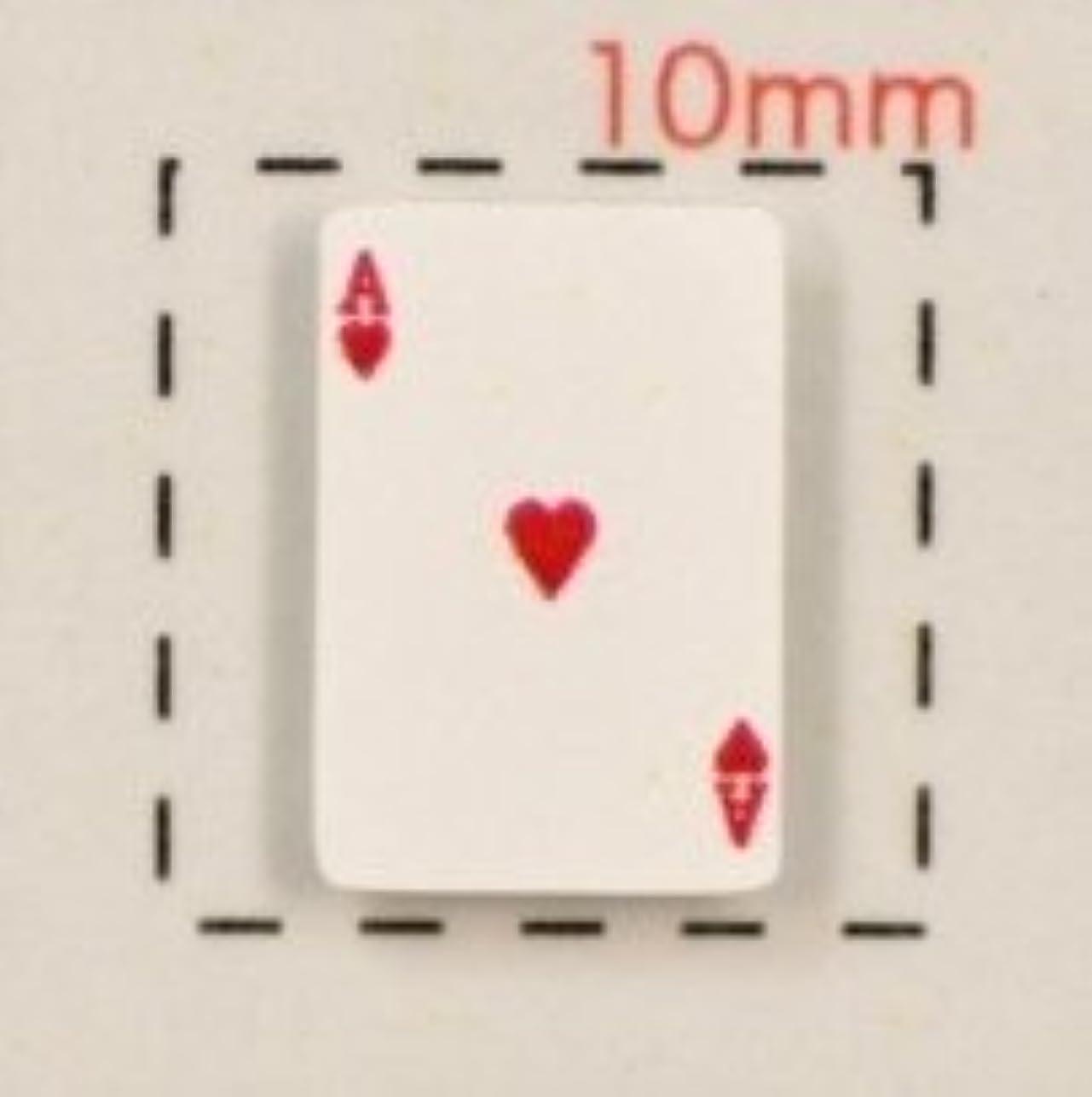 豊かにする別れる焦げ【トランプネイルシール】カード(2)ハートA/1シート12枚入