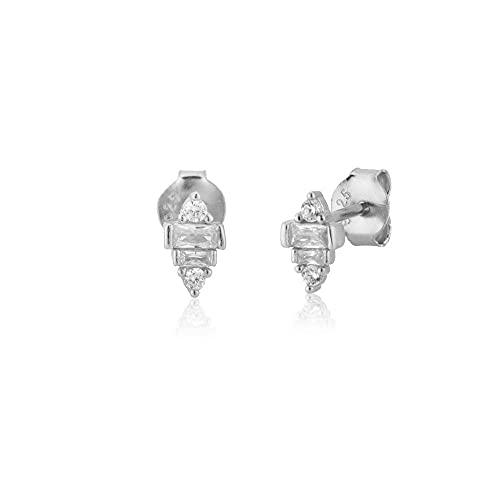 Pendientes de botón clásicos de plata 925, joyería bonita de moda, joyería de cristal de lujo, regalo de boda, pendiente de plata