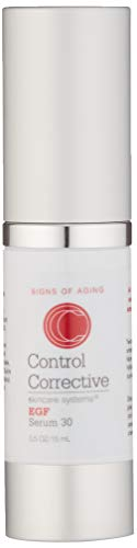 Control Corrective EGF Serum 30| Five Essential Growth Factors, Boost Skin's Production of Collagen| Tones & Clarifies Complexion | Fights Signs of Aging & Photodamage | .5 oz