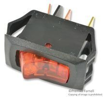 CARLING TECHNOLOGIES LRA211-CA-B/125N SWITCH, ROCKER, SPST, 16A, 250V, AMBER (1 piece)