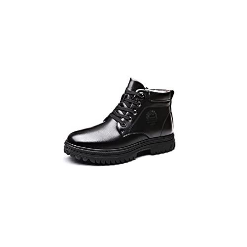 Wangchngqing heren jurk schoenen Schoenen voor Mannen Plus Fleece Warm lederen wol Hoge katoenen schoenen en bontlaarzen…