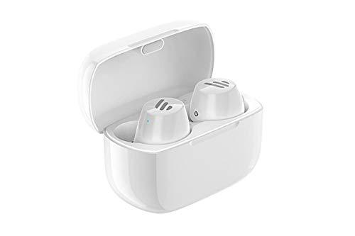 Edifier TWS1 True Wireless (TWS) Bluetooth 5.0 APTX audífonos con Control táctil y Estuche de Carga – IPX5 a Prueba de Salpicaduras, Color Blanco