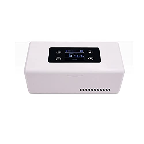 SMLSMGS Frigorífico de insulina portátil Mini caja refrigerada, pantalla LED Refrigerador de refrigerador Termostato inteligente Termostato Termostato Reefer, manteniendo el enfriamiento 2-15  Para e