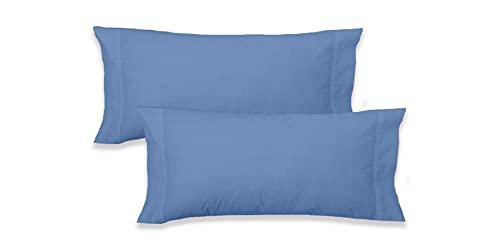 Elige - Funda Almohada Microfibra (Azul, Almohada 90 CM)