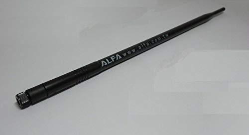 Alfa 802.11g 9dBi TNC OMNI-directionale High-Gain Schraub-Schwenk Wi-Fi Booster Antenne für Router oder Netzwerk Karten Adapter - Fits Linksys WRT54G, WRT54GL, BEFW11S4, WAP54G, WAP11, WSB24, WRT54GS und allen 802.11g TNC Anschlüsse