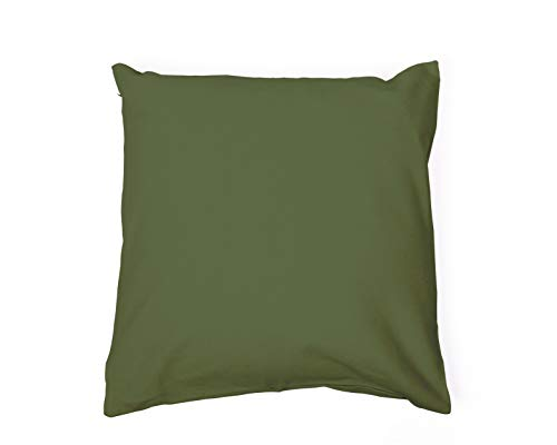 Doodle Bag Square Cushion Cover | Fairtrade and Organic Cotton | Comes in a 45X45cm (Olive)