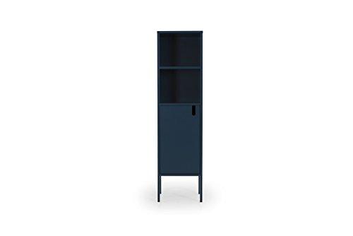TENZO 8561-023 UNO Designer Highboard 1 Tür, Petrol Blau lackiert, MDF + Spanplatten, matt Soft-Close Funktion, 152 x 40 x 40 cm (HxBxT)