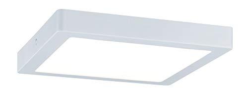 Paulmann 70900 LED Panel Abia eckig incl. 1x22 Watt Deckenlampe Weiß matt Deckenleuchte Kunststoff Wohnzimmerlampe 2700 K