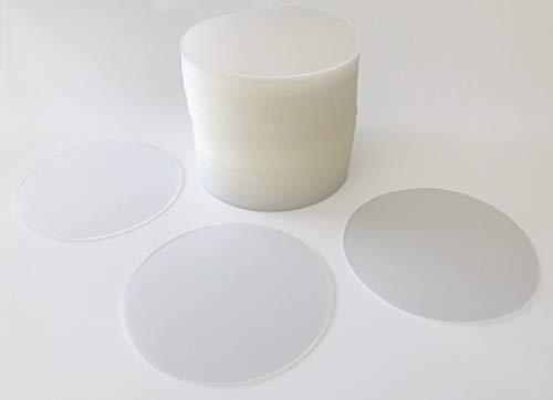 Vogt 100 Bierdeckel Untersetzer transparent Kunststoff Polypropylenfolie abwischbar Durchmesser 9,9 cm