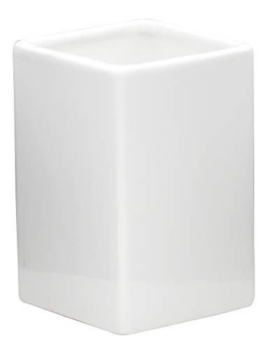 Ridder Cube Vaso, cerámica, Blanco, ca. 7,6 x 7,6 x 11,4 cm