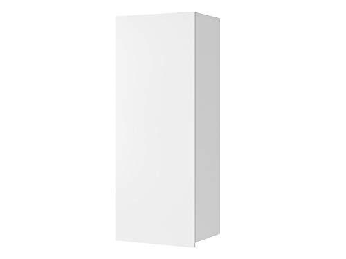 Mirjan24 Hängeschrank Calabrini BR11, Schrank für Wohnzimmer, Wandschrank, Kollektion (Weiß/Weiß Hochglanz)