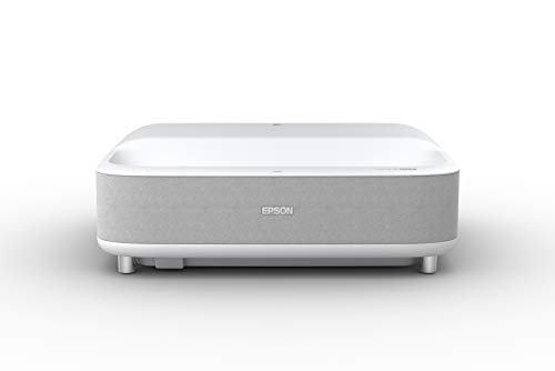 Epson – EpiqVision Ultra LS300 Smart Streaming Laser Ultra Short Throw Projector with HDR and Android TV – White