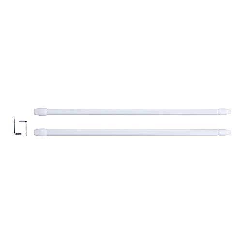 HOME DECO FACTORY DI8665 Tringle Extensible, Blanc, 50 à 80 cm