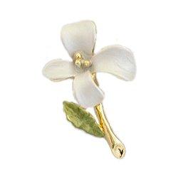 [ノーブランド] ピンブローチ 小さい花 ホワイト