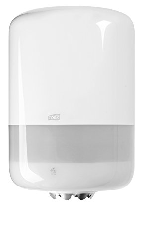 Tork 559000 Dispensador de alimentación central Elevation/Soporte de papel mecha compatible con el sistema M2 / Blanco