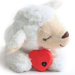 E-More Puppy Toy with Heartbeat, Puppies Separation Anxiety Dog Toy Soft Plush Sleeping Buddy Behavioral Aid Toy Puppy Heart Beat Toy for Puppies Dog Pet, Sheep Shape