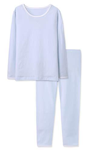ABClothing Kid Boys alle in Einer Union Winter warme thermische Unterwäsche Kessel Anzug für große Kinder blau 10 Jahre 11 Jahre alt