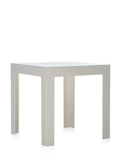 Kartell Jolly, Table Basse, Polycarbonate Transparent ou teintè dans la Masse, Blanc Brillant Opaques