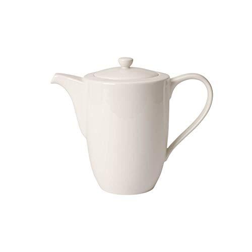 Villeroy & Boch For Me Kaffeekanne, Premium Porzellan, Weiß, 16x16x14 cm