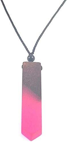 NC190 Collar Retro de Moda, Collar con Colgante de Madera y Resina, joyería de Moda para Hombres y Mujeres, Collar con Colgante, Regalo para Hombres, Mujeres, niñas, niños