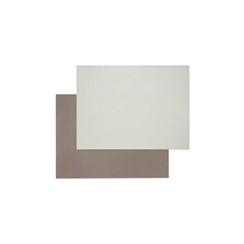 FreeForm FFPM1417 Set de Table en Cuir, Simili, Taupe et Blanc, 40 x 30 cm