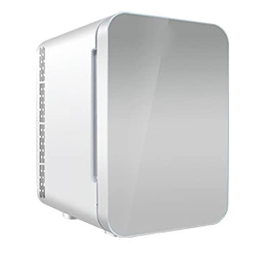 LANGCA Mini Nevera, 22L de Gran Capacidad/Panel Frontal de Vidrio/frigorificos pequeños AC/DC, Enfriador y Calentador Cargado, Utilizado para Alimentos/Bebidas,/medicamentos/cosméticos,Plata