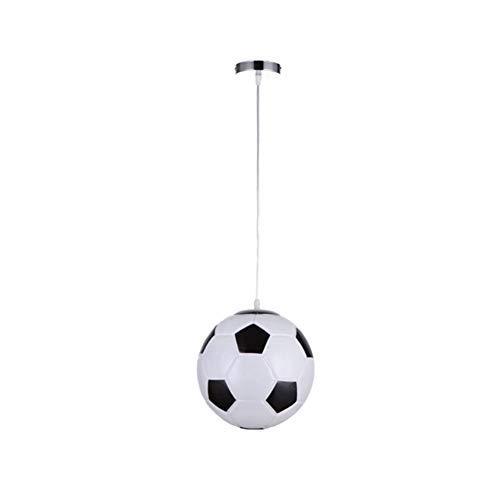 ZHQIC 1 Uds, Lámpara Colgante LED con Forma de fútbol, lámparas Colgantes de Techo, Luces de Noche de Cristal, decoración Moderna para Sala de Estar, iluminación Interior