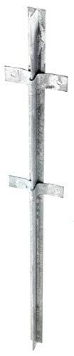 GAH-Alberts 212438 Zaunpfosten | aus T-Profil | feuerverzinkt | 40 x 40 x 1200 mm