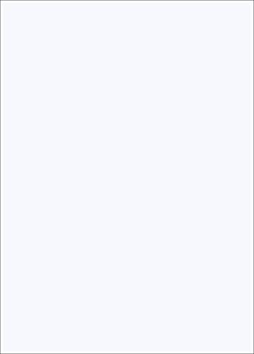 Tonpapier Weiß 50 x 70cm | 130 g/m² Bastelpapier 10 Blatt einfarbig 130g /qm Bastel-Papier Set Ton-Karton Schul-Papier farbig zum basteln bemalen Bastelkarton Kinder Hochzeit 2100-A
