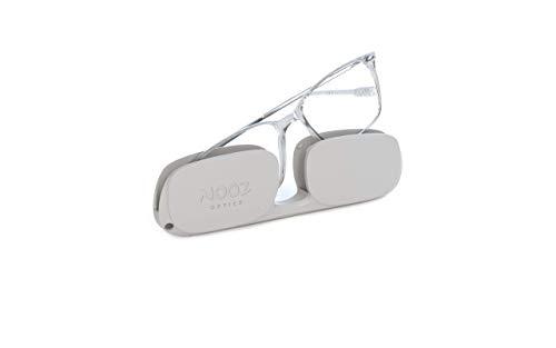 Nooz Optics - Blaulichtfilter brille ohne sehstärke Damen und Herren für Bildschirm, Smartphone, Gaming oder Fernsehen - Rechteckige Form - Kristall Farbe - Bao Collection
