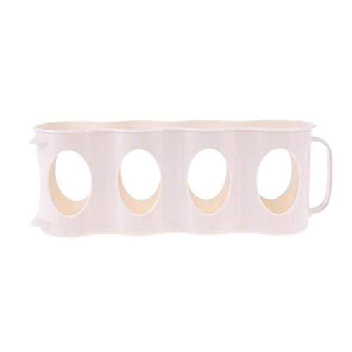 YDGHD 1 paquete de 1 caja de almacenamiento de 4 agujeros para cocina, refrigerador,lata de bebidas de cola, ahorro de espacio, organizador de acabado ligero y duradero(Blanquecino)