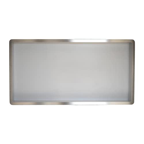 Estantes de baño   estante de ducha empotrado de pared acero inox , 60x30, nicho de ducha COMPONENDO, Made In Italy (Color BLANCO)
