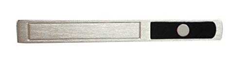925er Silber Onyx Krawattenschieber matt glänzend schwarzer Krokobox m.i. Germany