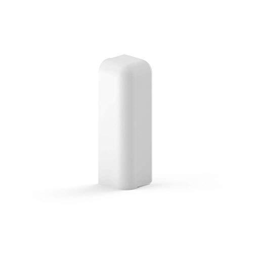 Habengut Endkappe Ausführung links für Sockelleiste 70 mm aus PVC, Farbe: Weiß   Inhalt: 1 Stück - für einen sauberen Abschluss