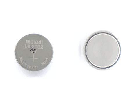 LeFix ML2032 Rechargable 3V Coin Cell Lithium Battery for Logitech K750 Solar Keyboard,Sega Dreamcast