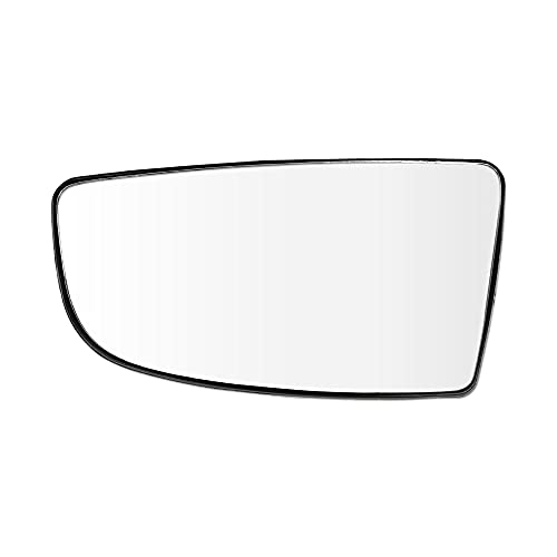 uxcell Driver Left Side Convex Mirror Replacement Lower Glass with Plate for...